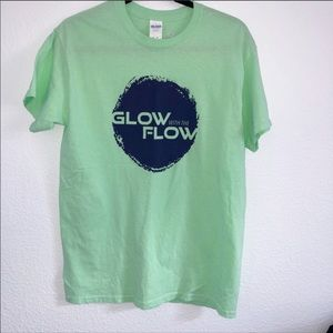 Tops - Graphic T Neon Green glow w/the flow